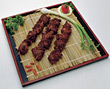 kabob food meat entrees japanese cooked stock photo