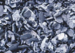 pieces metal backgrounds silver grey shreds stock photo