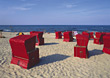 shore sand chairs symbolic sea ocean stock photo