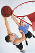 playing basketball male adults active sport stock photo