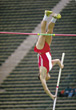 male track sport vault adult people stock photo