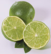 citrus fruits tropical sliced limes produce stock image