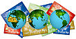3 Earths Representing All Countries In The World Cards Payments By Bank Loans