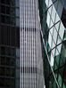 30 St Mary Axe (The Gherkin), London, England stock photo