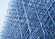 scaffolding frame blue metal backgrounds grid stock photo