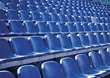 chair blue stadium backgrounds empty seats stock photo