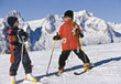skiing winter snow outdoor active sport stock photo