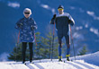 skiing old crosscountry sport people skier stock photo