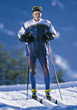 skiing old crosscountry male sport adult stock image