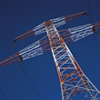 powerlines industrial electricity industry energy stock photography