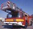 ladder accidents truck firetrucks firefighters german stock image