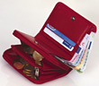 european red foreign EURO wallet currency stock photography