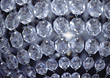 crystals chandalier silver backgrounds glass grey stock photography