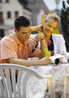 going dining people couples out lifestyles stock photo