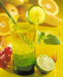 refreshing beverage alcohol tropical glass lime stock image