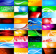 36 Abstract Banners Collection. All Of These Banners Can Be Found In Vector Format In My Portfolio.