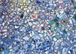 abstract blue art backgrounds mosaic stones stock image