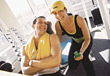 studio exercising fitness exercise health center stock image