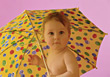 child babies umbrella infant people kid stock photo