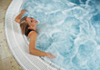 water relax beauty adult relaxing people stock photo