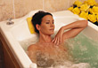 skincare wellness bath beauty health people stock photo