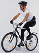 bike mountain biking helmets race stock photo