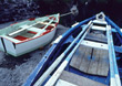 rowing boats rowboats fishing stock image