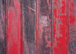 planks fence old wooden red worn stock photo