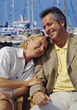relax relaxing people dock couples sit stock photo
