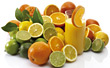 lemons grapefruits beverages oranges limes drinks stock image