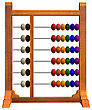 3D Digital Render Of An Abacus Isolated On White Background stock illustration