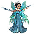 3D Digital Render Of A Beautiful Little Fairy Butterfly Isolated On White Background