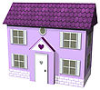 3D Digital Render Of A Cute Purple House Isolated On White Background
