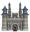 3D Digital Render Of A Fairytale Castle Isolated On White Background