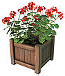 3D Digital Render Of A Red Geranium Planter Isolated On White Background