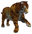 3D Digital Render Of A Wild Tiger Isolated On White Background stock image