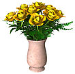 3D Digital Render Of Yellow Roses Isolated On White Background