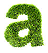 3d Grass Letter - A stock photo