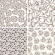 4 Vector Seamless Funky Patterns