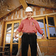 protection building protective male builder adult stock image