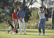 golfcourse hitting sport leisure people golfing stock photo