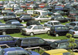 automobiles parking cars vehicle lot transportation stock photo