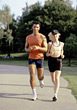 Couples Lifestyle weight fitness sports exercise running people stock photo