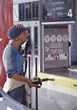petroluem gasoline gaspump fueling gasstation leisure stock photo