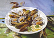 dinner fresh muscles food seafood fish stock image