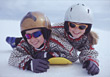 child winter snow outdoor active sport stock photo