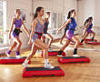 Gymnastic studio exercising fitness aerobics exercise adult stock image