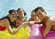 parents relax happiness vacations fun relaxing stock image