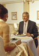 old hospitality adult restaurant people elder stock photo
