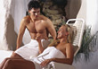 wellness health people couples spa lifestyles stock image